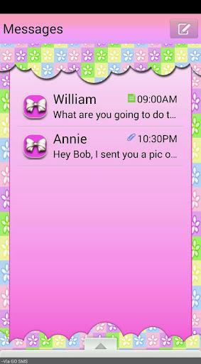 FlowersNBows GO SMS THEME