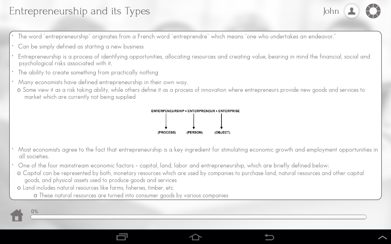 Learn Entrepreneurship - screenshot