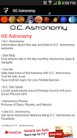 Screenshot of OC Astronomy