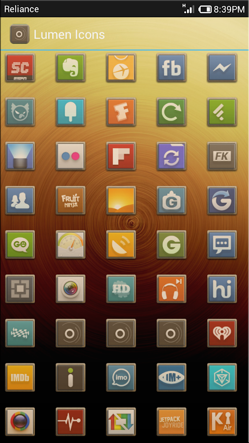 LIGNA ICONS FREE APEX/NOVA/ADW - screenshot