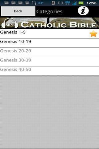 Audio Catholic Bible - screenshot