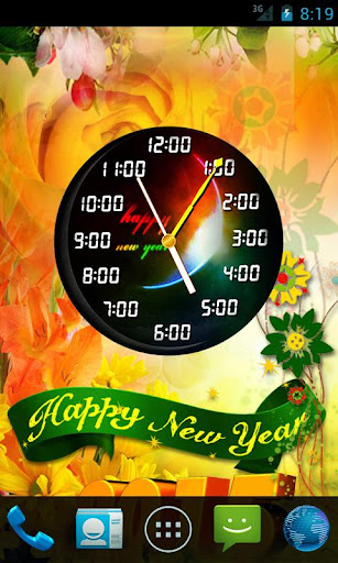 New Year Clock Live Wallpaper