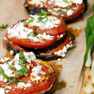 Grilled Eggplant with Tomato and Feta Got More Than 100 000 Repins