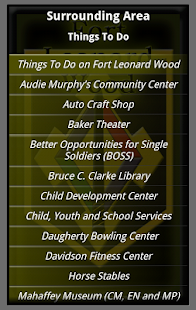 Fort Leonard Wood Information screenshot