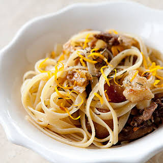 Pasta with Slow Roasted Duck.