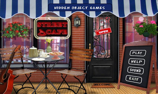 Street Cafe Free Hidden Object