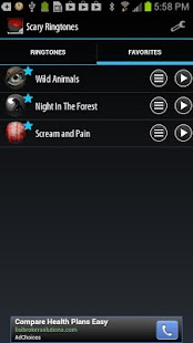 Scary Ringtones - screenshot thumbnail