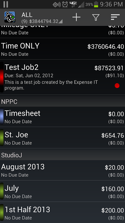 Expense Manager BluJ Business - screenshot