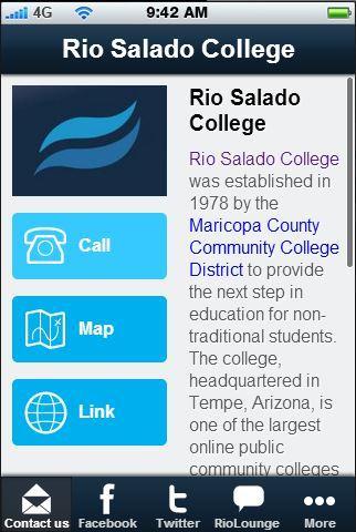 Rio Salado College - screenshot