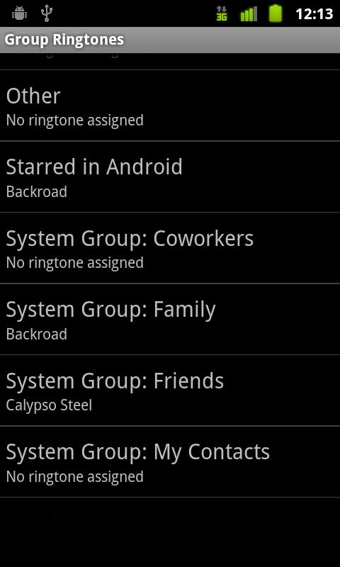 Group Ringtones Donate - screenshot
