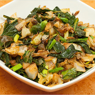 Sauteed Cabbage and Kale.