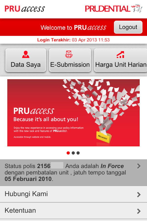 PRUaccess Mobile - screenshot