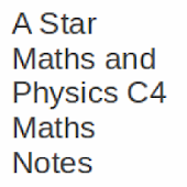 C4 A Level Maths Notes