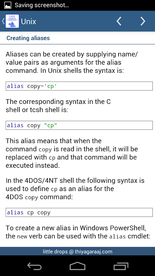 Unix & Linux Reference Guide - screenshot