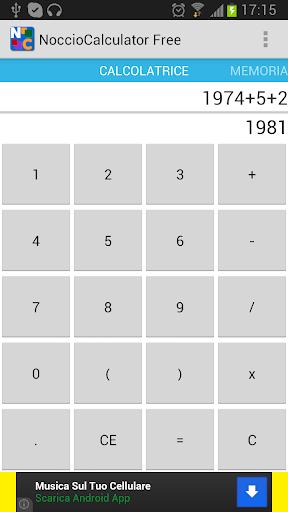 Noccio Calculator