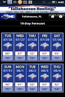 Screenshot of WTXL Weather