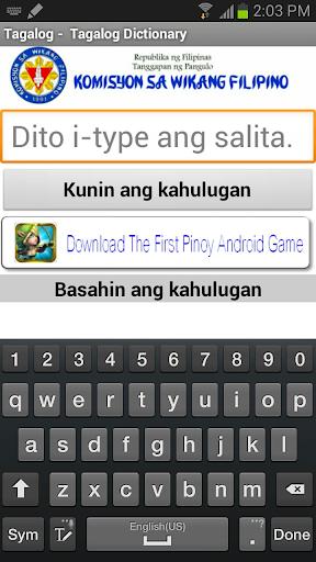 Tagalog - Tagalog Dictionary 2017 screenshots 1