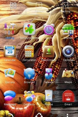 Thanksgiving 2012 Go Launcher - screenshot