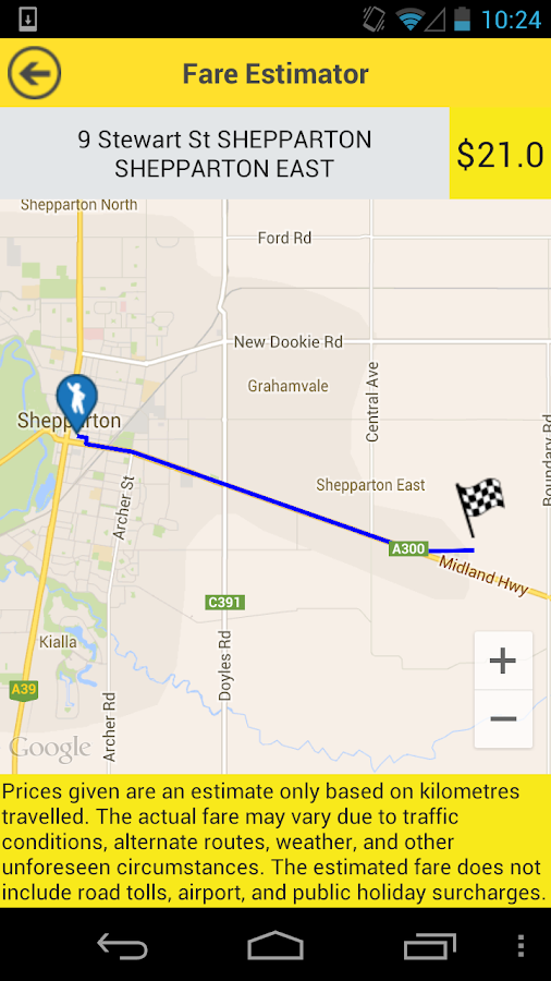 Greater Shepparton Taxis- screenshot