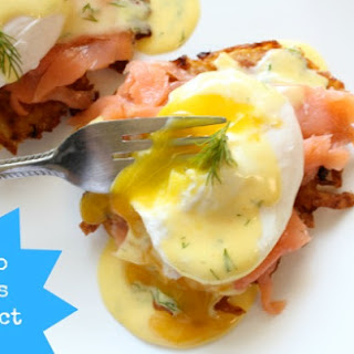 Potato Latkes Eggs Benedict