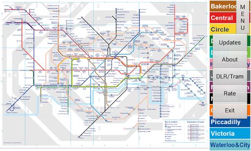 【免費交通運輸App】London Tube Map-APP點子