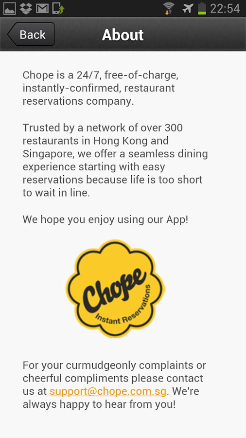Chope - screenshot