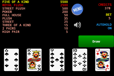 Jolly Card Poker - screenshot thumbnail