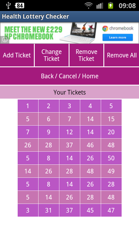 Health Lottery Checker- screenshot