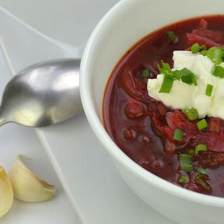 Vegetarian Borscht (Борщ) | Authentic Russian Beet Soup