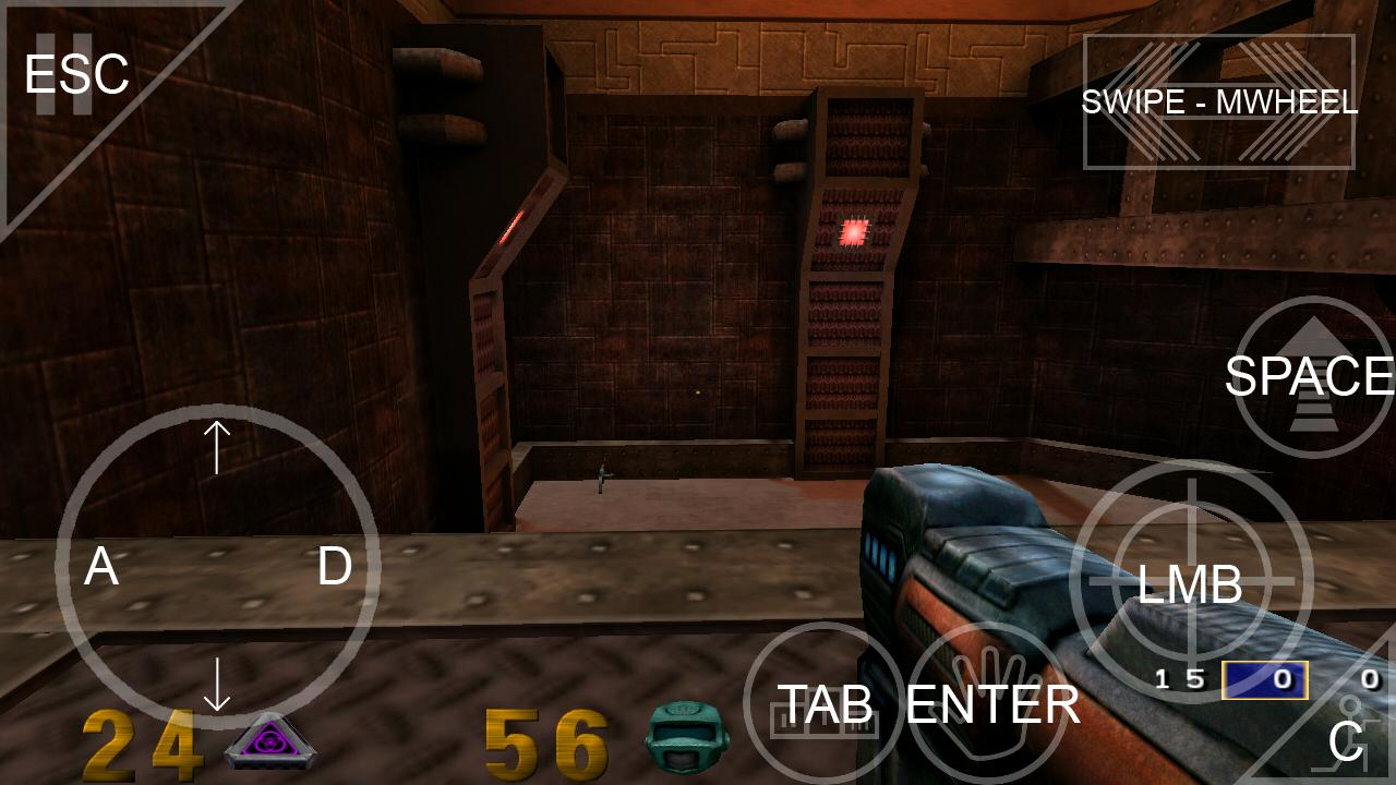 QIII4A(source port of quake 3) - screenshot