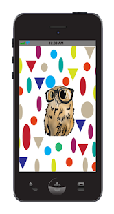Hipster Owl Wallpaper