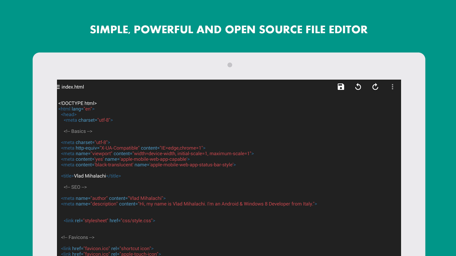 Turbo Editor ( Text Editor )- screenshot