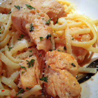 """Buttery Chicken """"Scampi"""" Pasta."""