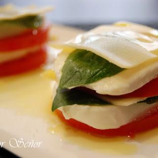 Cold Tomato, Mozzarella, and Basil Lasagna.
