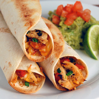 Baked Chicken & Roasted Red Pepper Taquitos.