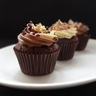 Quadruple Chocolate Cupcakes.