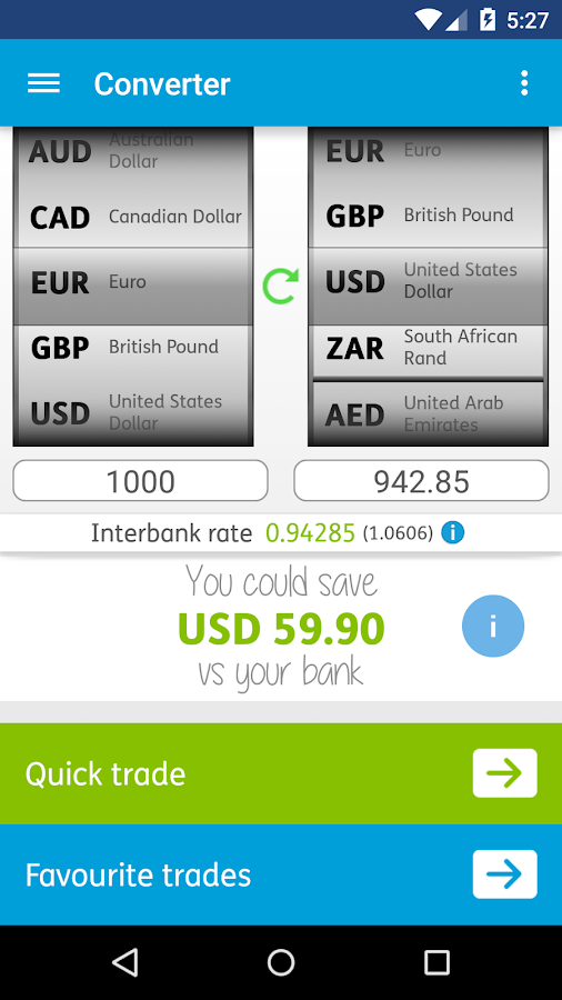 World First Money Transfer- screenshot