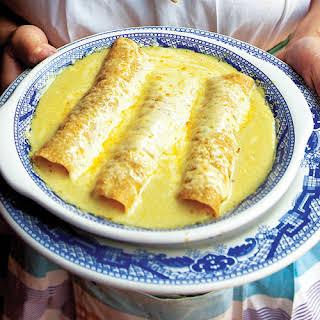 Enchiladas Suizas (Chicken Enchiladas in Tomatillo-Cream Sauce).