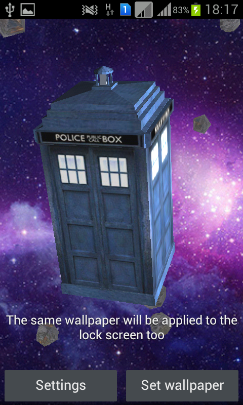 TARDIS 3D Live Wallpaper- screenshot