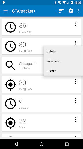 (APK) تحميل لالروبوت / PC Transit Tracker - CTA تطبيقات screenshot
