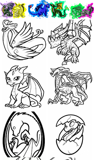 Dragons Cartoon Coloring
