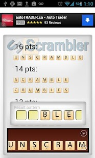 unScrambler! for word games - screenshot thumbnail