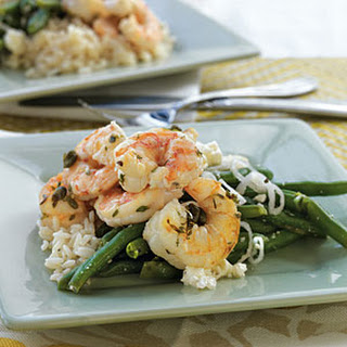 Shrimp with Capers, Garlic, and Rice.