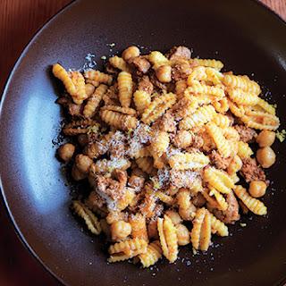 Pasta with Chorizo and Chickpeas