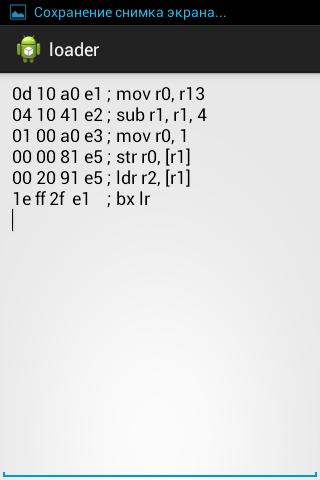 ARM code loader
