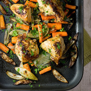 Roasted Dijon Chicken.