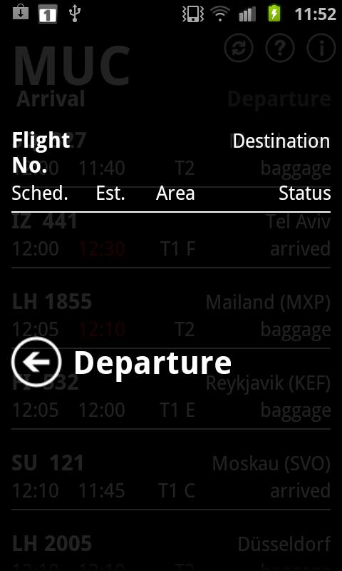 Departure MUC- screenshot
