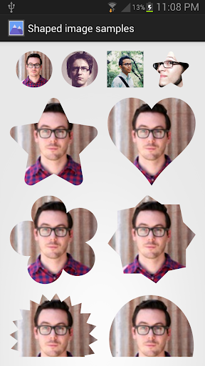 【免費程式庫與試用程式App】Custom shape ImageView SVGmask-APP點子