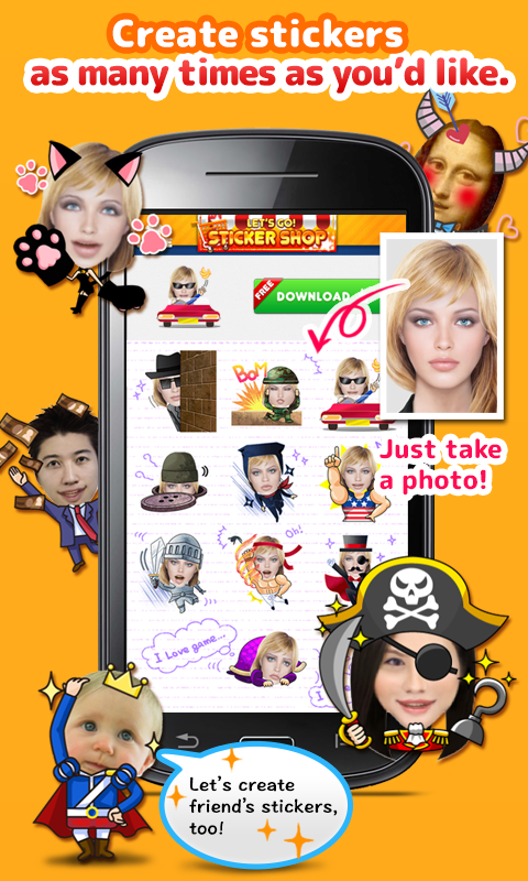 StickerMe Free Selfie Emoji- screenshot