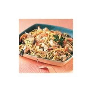 Garlic Shrimp and Pasta.
